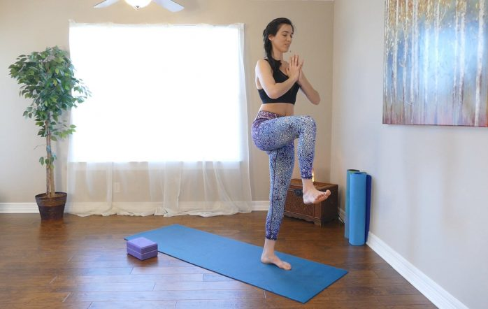 In this video you will learn to use yoga to target your inner thighs, your hips and really structure a nice pelvic region where you can have a lot of balance and stability